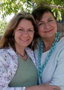 Mary Dixon with Denise Linn at the conclusion of Soul Coaching® certification 2008 in Paso Robles, CA.