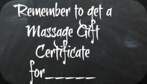 Purchase Gift Certificates for Massage
